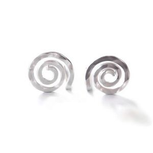 ♥️ Sterling Silver Textured Spiral Studs 925 ♥️